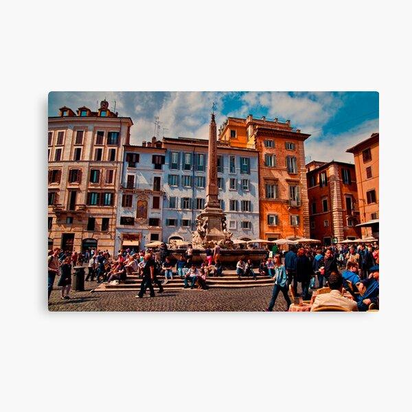 ROME - Pantheon Square... Canvas Print