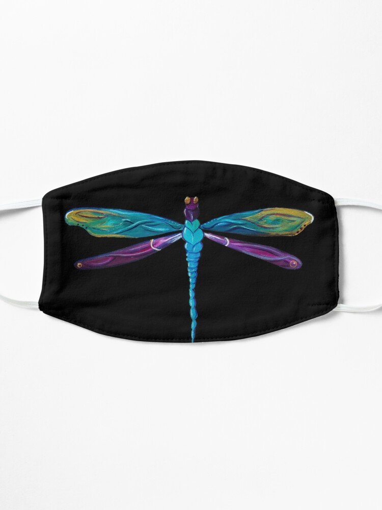 Alternate view of Painted Dragonfly Mask