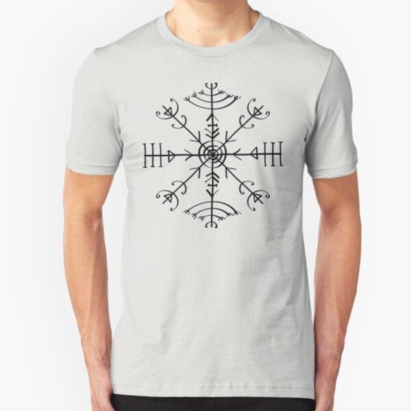 Veldismagn, Icelandic Magical Binding Rune, Protection, Lucky Charm Slim Fit T-Shirt