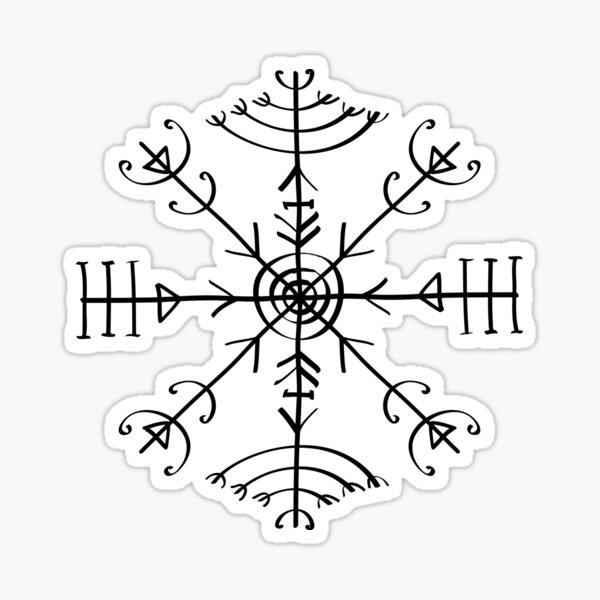 Veldismagn, Icelandic Magical Binding Rune, Protection, Lucky Charm Sticker
