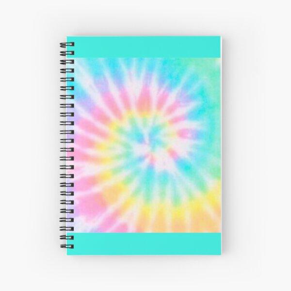 Pastel Rainbow Tie Dye Pattern Spiral Notebook