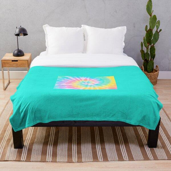 Pastel Rainbow Tie Dye Pattern Throw Blanket