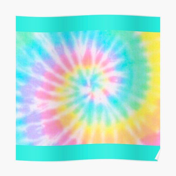 Pastel Rainbow Tie Dye Pattern Poster
