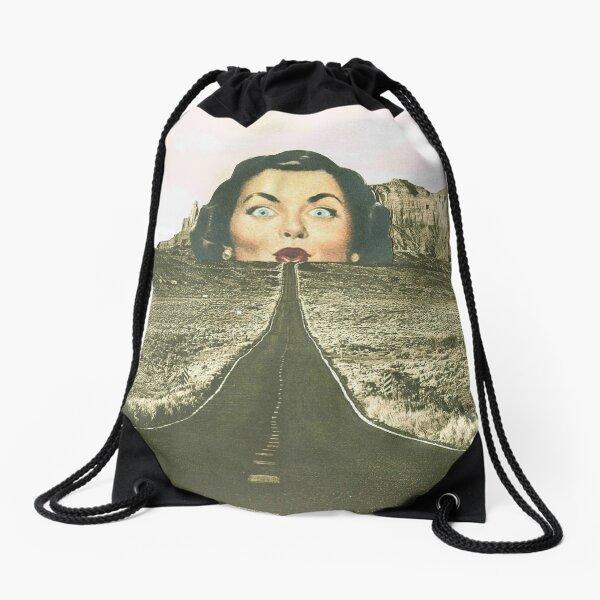 The road ahead  Drawstring Bag