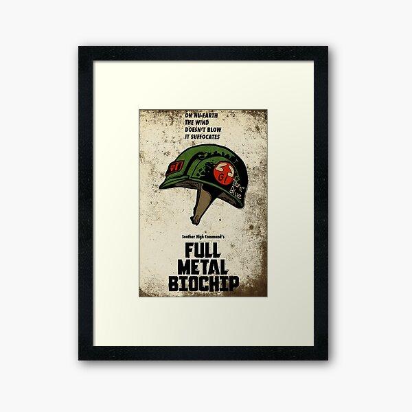 Full Genetic Infantryman Framed Art Print