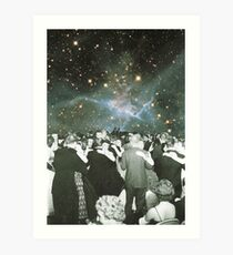 Dancing under the stars Art Print