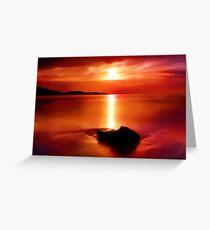 """Solitude At Sunrise"" Greeting Card"