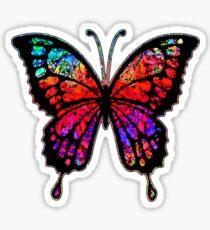 Psychedelischer Schmetterling Sticker