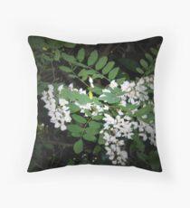Robinia flowers Throw Pillow