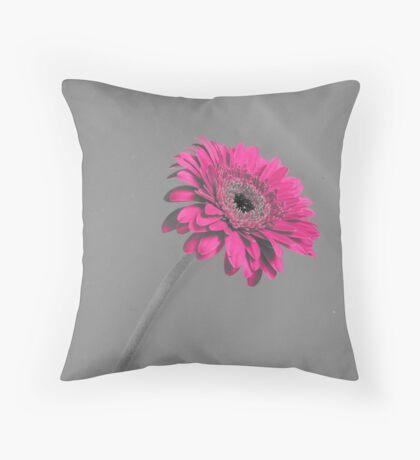 Fuschia Gerbera Throw Pillow