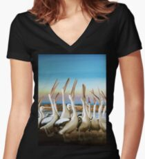 Where's the prawn Women's Fitted V-Neck T-Shirt