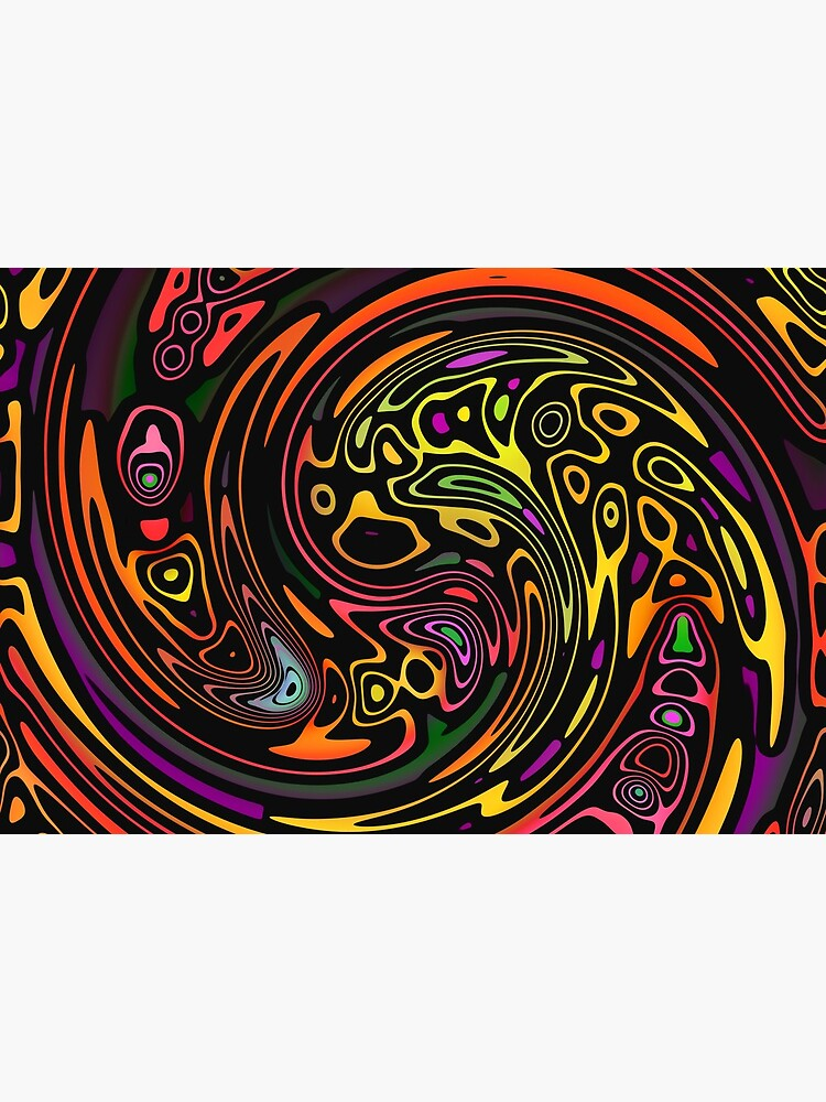 Colorful Tribal Swirl Pattern by RootSquare