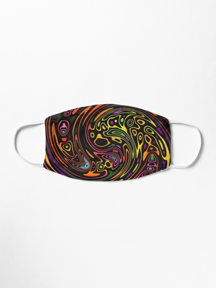 Alternate view of Colorful Tribal Swirl Pattern Mask