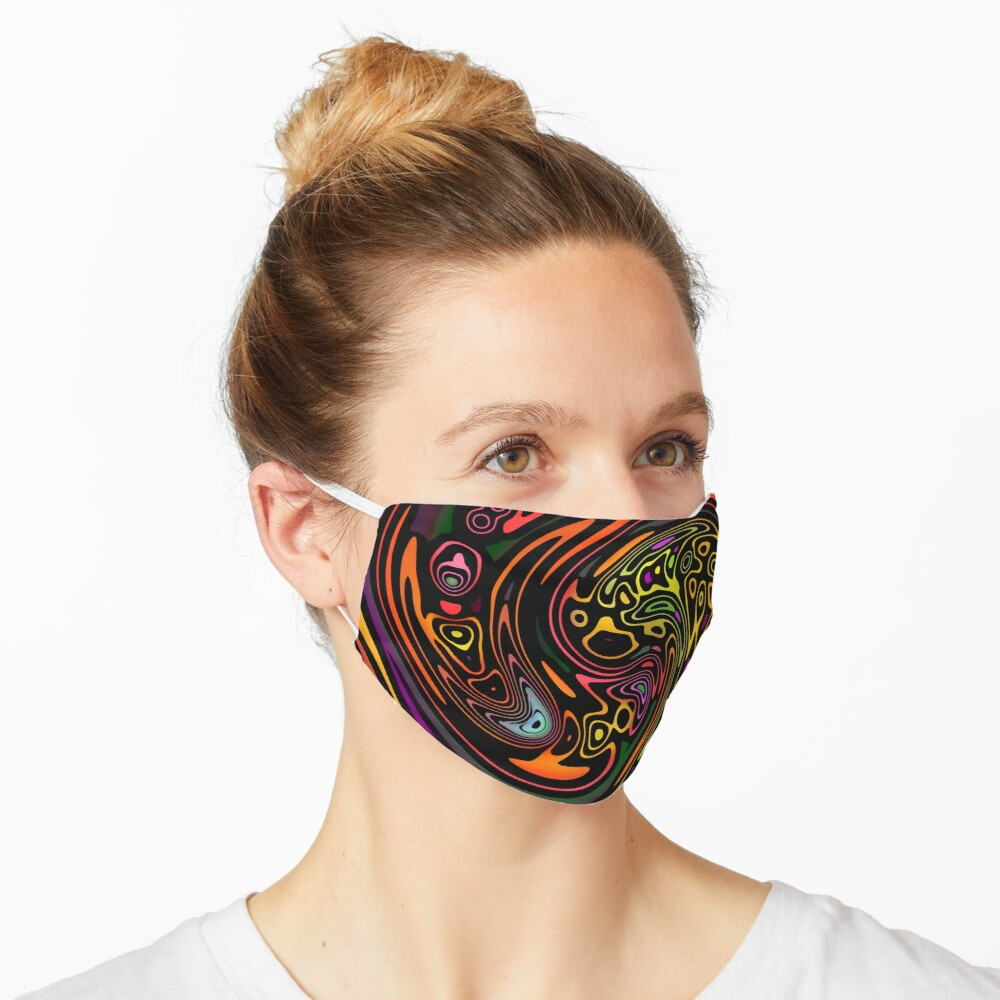 Colorful Tribal Swirl Pattern Mask