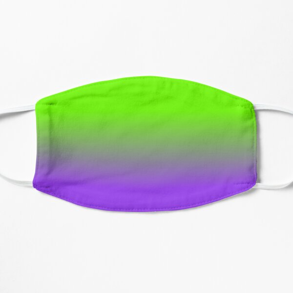Neon Purple and Neon Green Ombré  Shade Color Fade Flat Mask