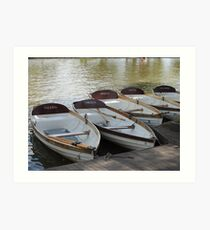 Stratford upon Avon boats Art Print