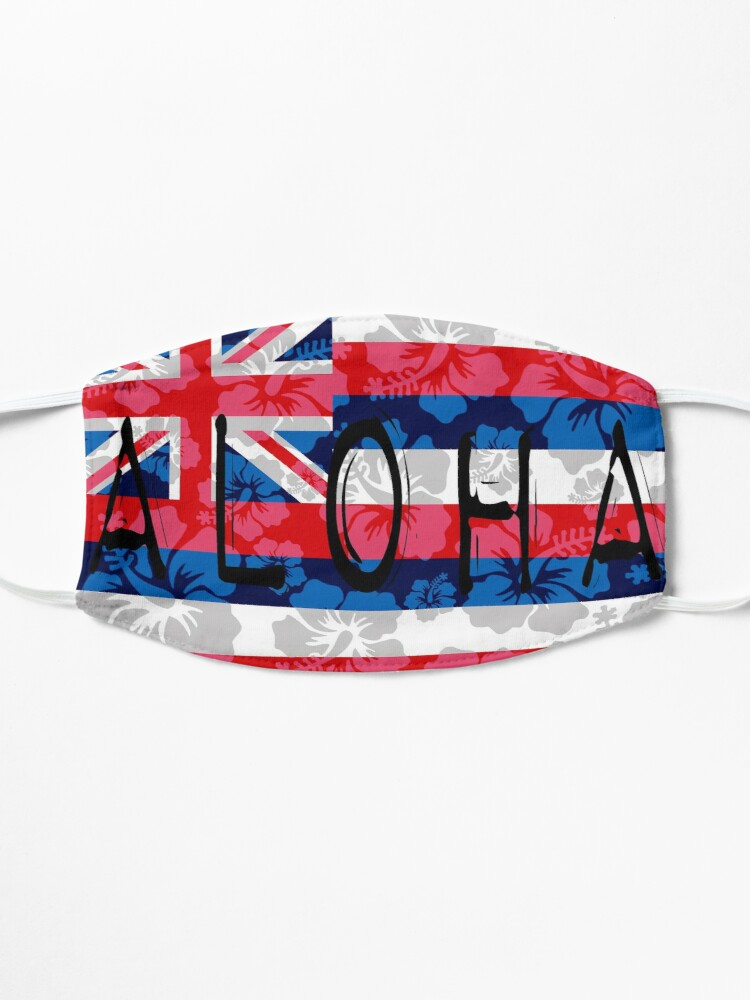 Alternate view of Aloha Floral Hawai'i Flag by Hawaii Nei All Day Mask