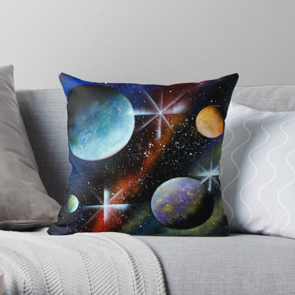 Galaxy Print Throw Pillow