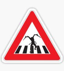 Caution - Necromorph Crossing Sticker