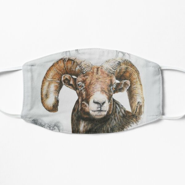 North American Big Horn Sheep Collage Mask