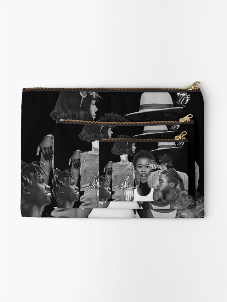 Alternate view of Fly of Freedom - metamorphosis, butterflies, collage art Zipper Pouch