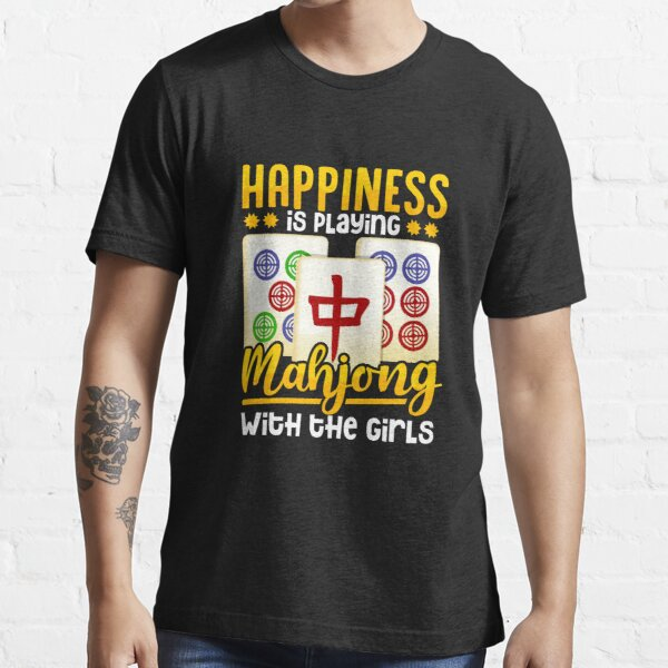Mahjong Player Women Girls Funny Gift Essential T-Shirt