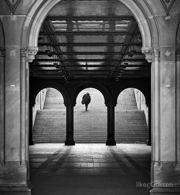 Bethesda Underpass at Central Park, New York City by Ilker Goksen