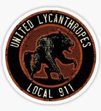 United Lycanthropes Sticker