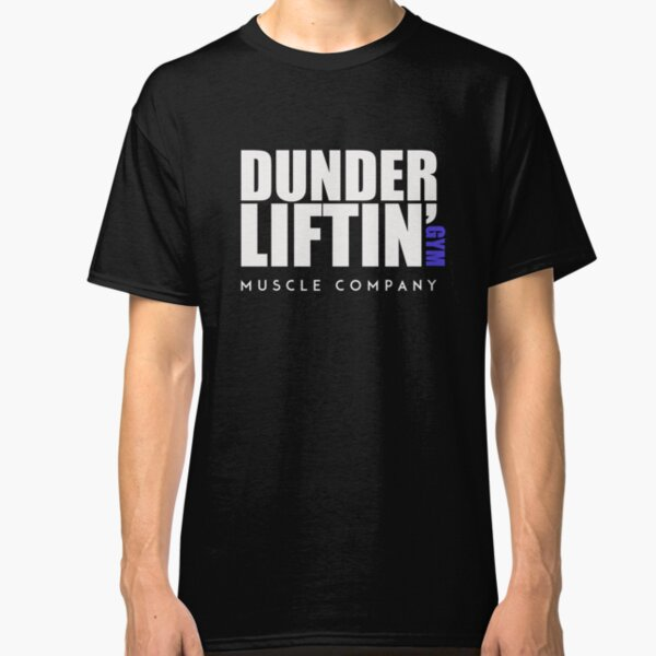Dunder Lifting Gym Muscle Company - Dark version Classic T-Shirt