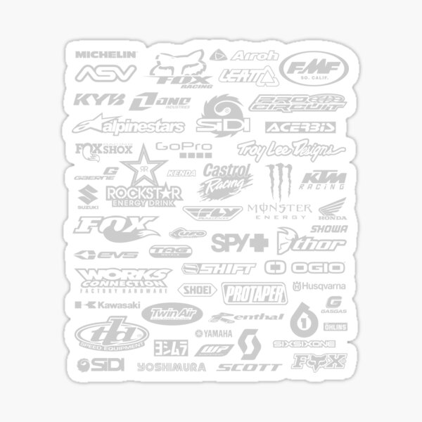 Motocross Logos Far Art Sticker