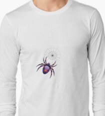Cartoon Purple Spider 2 Long Sleeve T-Shirt