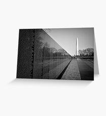 The Vietnam Veterans Memorial, Washington DC Greeting Card