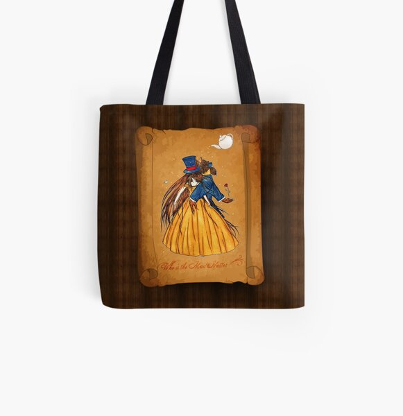 Who is the Mad Hatter ? Beauty and the Beast All Over Print Tote Bag