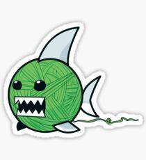 Yarn shark (green) Sticker