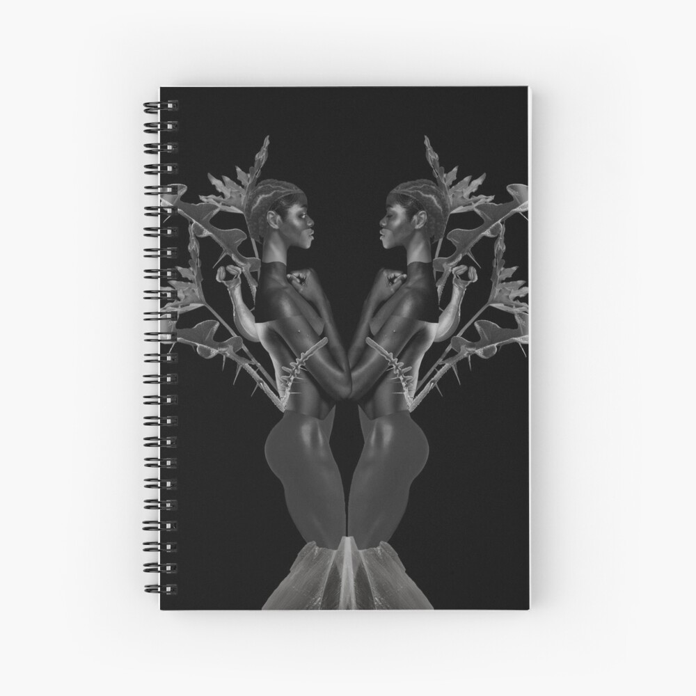 Rebirth of Self - butterfly, nature, metamorphosis Spiral Notebook