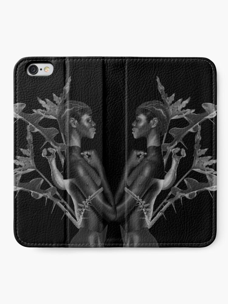 Alternate view of Rebirth of Self - butterfly, nature, metamorphosis iPhone Wallet