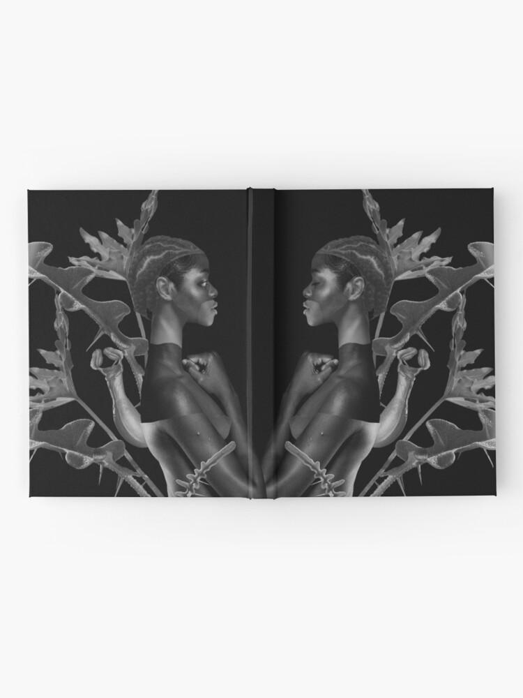 Alternate view of Rebirth of Self - butterfly, nature, metamorphosis Hardcover Journal
