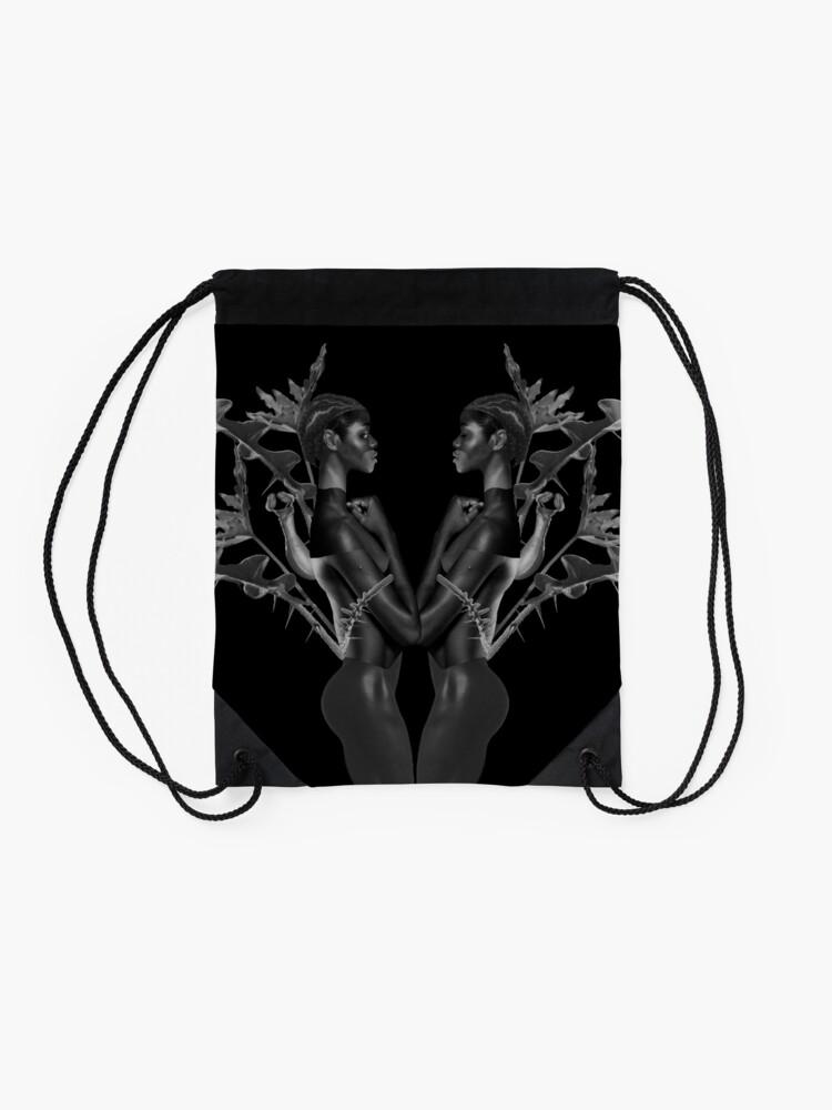Alternate view of Rebirth of Self - butterfly, nature, metamorphosis Drawstring Bag