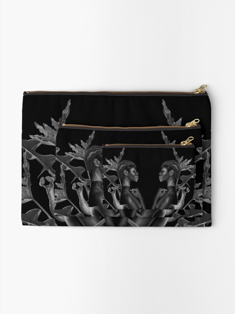 Alternate view of Rebirth of Self - butterfly, nature, metamorphosis Zipper Pouch