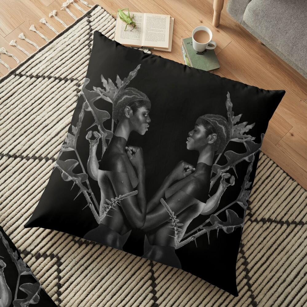 Rebirth of Self - butterfly, nature, metamorphosis Floor Pillow