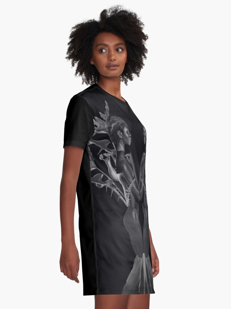 Alternate view of Rebirth of Self - butterfly, nature, metamorphosis Graphic T-Shirt Dress