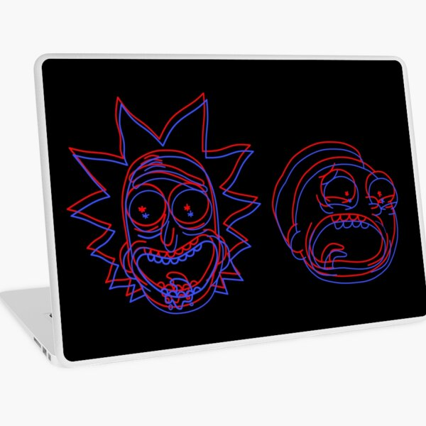 Rick and Morty 3D Laptop Skin