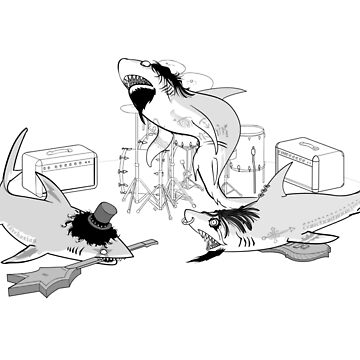 Heavy metal shark band by sharkandfriends