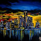 Detroit Skyline by Graham Beatty