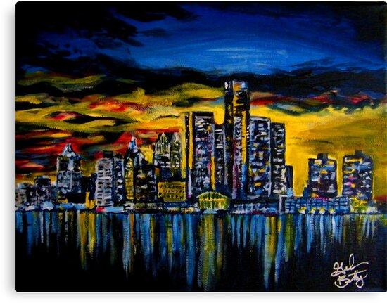 Detroit Skyline by Graham Beatty