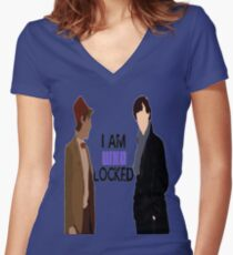 I AM WHOLOCKED Women's Fitted V-Neck T-Shirt