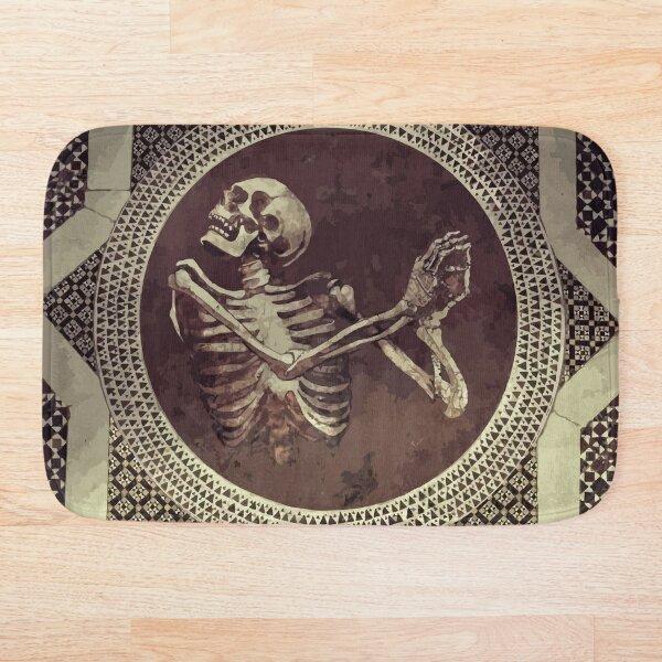 Hannibal: Dancing Skull + Skeleton Mosaic  Bath Mat