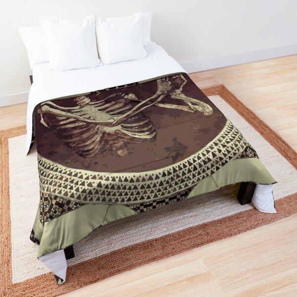 Hannibal: Dancing Skull + Skeleton Mosaic  Comforter