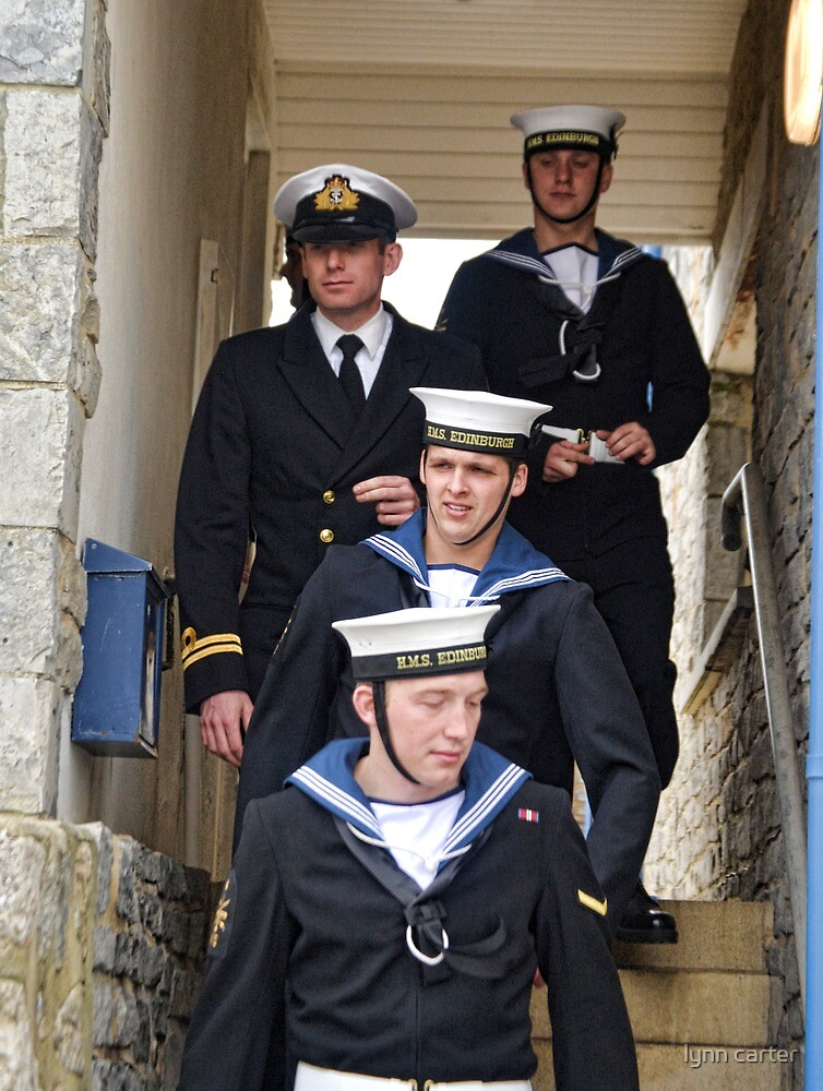 The Navy Ashore In Lyme, Dorset by lynn carter