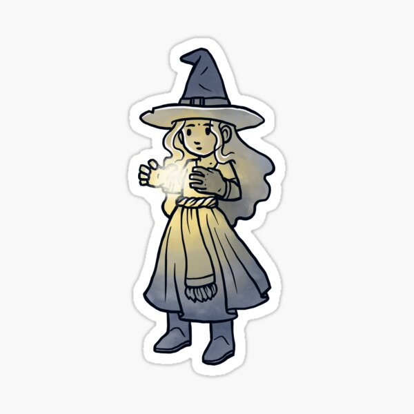 Witch Casting Spell Sticker